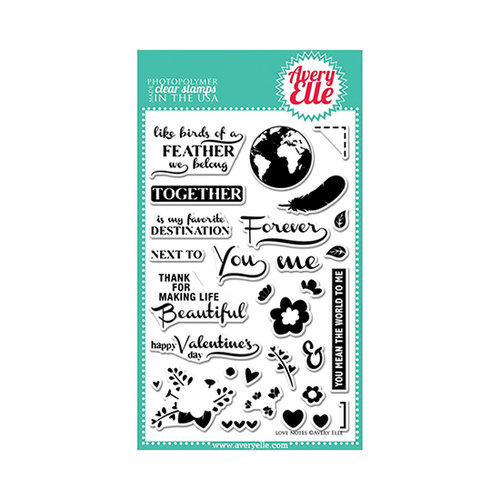 Avery Elle - Clear Acrylic Stamps - Love Notes