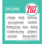 Avery Elle - Clear Acrylic Stamps - Simply Said - Hello