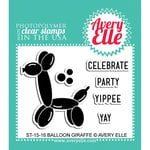 Avery Elle - Clear Acrylic Stamps - Balloon Giraffe