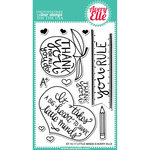 Avery Elle - Clear Acrylic Stamps - Little Minds
