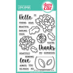 Avery Elle - Clear Acrylic Stamps - Peonies