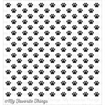 My Favorite Things - Background - Cling Mounted Rubber Stamp - Paw Print Background