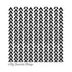 My Favorite Things - Background - Cling Mounted Rubber Stamp - Wonky Chevron