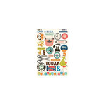 October Afternoon - 9 to 5 Collection - Chip 'n Stick - Self Adhesive Chipboard - Variety