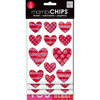 Me and My Big Ideas - MAMBI Chips - Chipboard Stickers - Love Hearts
