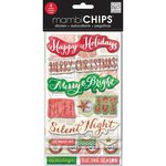 Me and My Big Ideas - MAMBI Chips - Christmas - Chipboard Stickers - Holiday Tags