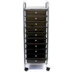 Storage Studios - Home Center Rolling Cart -10 Drawers - Smoke