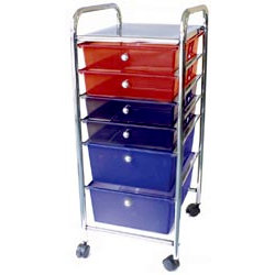 Cropper Hopper - Home Center Rolling Cart - 6 Drawers - Multi