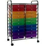 Cropper Hopper - Home Center Rolling Cart - 20 Drawers - Multi