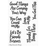 My Favorite Things - Clearly Sentimental - Clear Acrylic Stamps - Encouraging Words