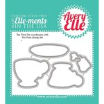 Avery Elle - Ellements Custom Steel Dies - Tea Time