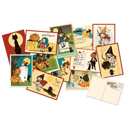 October Afternoon - Witch Hazel Collection - Halloween - Postcards