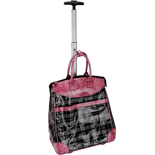 Mackinac Moon - Rolling Tote - Plaid