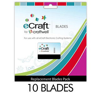 Craftwell - eCraft - 12 Inch Electronic Cutting System - Replacement Blades - 10 Pack