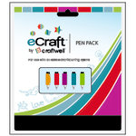 Craftwell - eCraft - 12 Inch Electronic Cutting System - Pen Set - 5 Pack - Primary Color Assortment