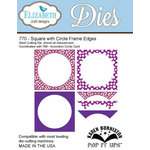Elizabeth Craft Designs - Karen Burniston - Pop it Ups Metal Dies - Square with Circle Frame Edges