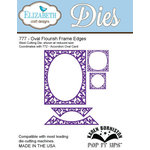 Elizabeth Craft Designs - Karen Burniston - Pop it Ups Metal Dies - Oval Flourish Frame Edges