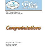 Elizabeth Craft Designs - Metal Die - Congratulations