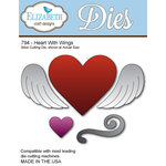 Elizabeth Craft Designs - Metal Die - Heart with Wings