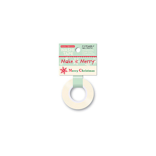 October Afternoon - Make it Merry Collection - Christmas - Washi Tape - Christmas Greetings