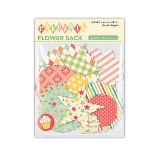 October Afternoon - Cakewalk Collection - Flower Sack - Die Cut Cardstock Pieces