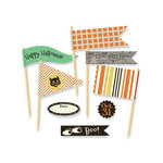 October Afternoon - Witch Hazel Collection - Halloween - Little Flyers - Self Adhesive Flags