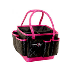 Everything Mary - Quilted Mini Organizer - Black with Pink Trim
