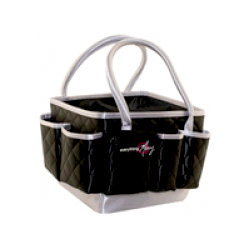 Everything Mary - Quilted Mini Organizer - Black with Silver Trim