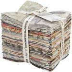 Coats - Tim Holtz - Eclectic Elements - 18 x 21 Inch Fat Quarter - 24 Pieces - Eclectic Elements