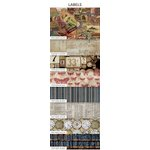 Coats - Tim Holtz - Eclectic Elements - 10 x 10 Inches - Charm Pack - 8 Pieces - Labels