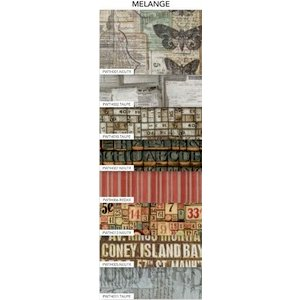 Coats - Tim Holtz - Eclectic Elements - 10 x 10 Inches - Charm Pack - 8 Pieces - Melange