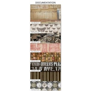 Coats - Tim Holtz - Eclectic Elements - 6 x 6 Fabric Craft Pack - 8 Pieces - Documentation