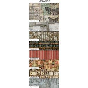 Coats - Tim Holtz - Eclectic Elements - 6 x 6 Fabric Craft Pack - 8 Pieces - Melange