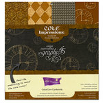 Graphic 45 - Core'dinations Core Impressions - Timeless Collection - 12 x 12 Embossed Color Core Cardstock Pack