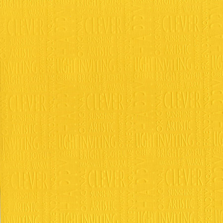 Core'dinations - Happy Colors Collection - 12 x 12 Embossed Color Core Cardstock - Sunshine