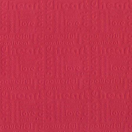 Core'dinations - Happy Colors Collection - 12 x 12 Embossed Color Core Cardstock - Heart
