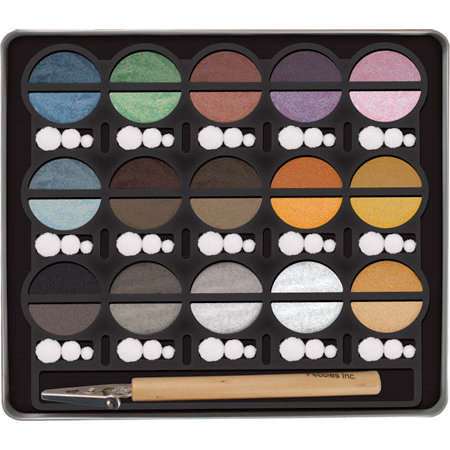 American Crafts - Pebbles - I Kandee Chalks - Metallic Cream