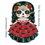La-La Land - Halloween - Cling Mounted Rubber Stamp Set - Dia De Los Muertos Marci