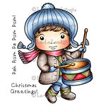 La-La Land - Christmas - Cling Mounted Rubber Stamp Set - Drummer Boy Luka