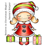 La-La Land - Cling Mounted Rubber Stamp Set - Paper Doll Marci - Christmas Elf