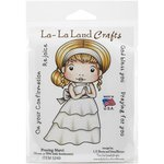 La-La Land - Cling Mounted Rubber Stamp Set - Praying Marci