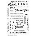 My Favorite Things - Lisa Johnson Designs - Clear Acrylic Stamps - For The Boys
