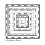 My Favorite Things - Die-Namics - STAX Dies - Cross-Stitch Square
