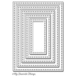 My Favorite Things - Die-Namics - STAX Dies - Cross-Stitch Rectangle