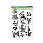Penny Black - Clear Acrylic Stamps - Florals and Feathers