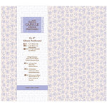 DoCrafts - Papermania - Capsule Collection - French Lavender - 8 x 8 Postbound Album