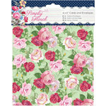 DoCrafts - Papermania - Capsule Collection - Simply Floral - 6 x 6 Cards with Envelopes
