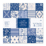 DoCrafts - Papermania - Parisienne Blue Collection - 12 x 12 Paper Pack