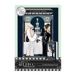 DoCrafts - Papermania - Art Deco Collection - A5 Decoupage Card Kit with Foil Accents