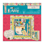 DoCrafts - Papermania - Sew Lovely Collection - 6 x 6 Card Kit - Decoupage Medley